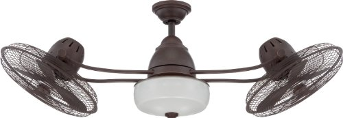 Craftmade Outdoor Dual Motor Ceiling Fan with Light BW248AG6...