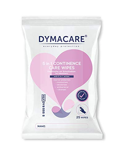 DYMACARE® Inkontinenz Hygienetuch - Reinigung-Hautpflege-Hautschutz in einem Arbeitsgang - 25 Tücher je Packung