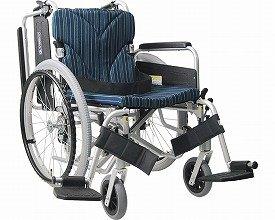 アルミ自走車いす 簡易モジュール 低床タイプ 座幅42cm A11 KA822-38・40・42B-LO (カワムラサイクル) (自走用車いす)