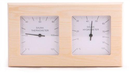 Top Kombigerät Sauna Thermometer mit Hygrometer für Sauna, Dampfsauna, Biosauna und Infrarotkabine