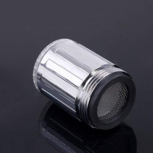 JYDQM Resplandor LED luz de Agua Corriente Grifo Grifo 3 Colores Cambio de baño Fregadero Faucet Chute Extender Cocina Accesorios de baño