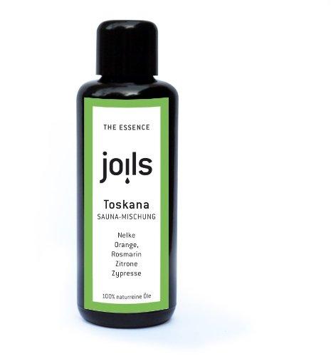 JOILS Sauna-Aufguss TOSKANA, naturrein, 50ml, 100% naturreines Öl für Ihre Sauna, Saunaöl, ätherisch und biologisch