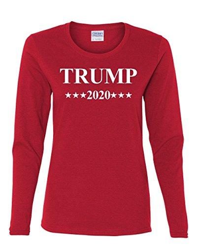 Trump 2020 MAGA Women's Long Sleeve Tee President Republican Political Red XL