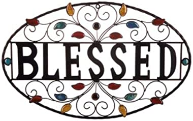 Blessed Metal Wall Word Art Decor Sign