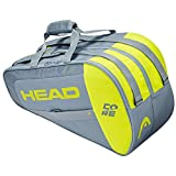 Head Core Combi Bolsa Tenis, Unisex-Adult, Gris/Amarillo, Largo-6 Palas de Padel