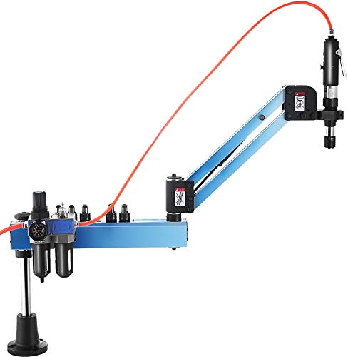 VEVOR Máquina de Roscado Neumática M3 - M12 Máquina de Brazo Roscado 1000 mm en Radio Universal Tornillo de Máquina Tapping para Maquinaria Industria de Fabricación Brazo Plegable para Máquina de 360°