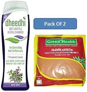 1 x Dhathri Dheedhi Anti Hair Fall Herbal Shampoo Paraben Free 200ml, With Free reen Health Herbals Red Sandal Powder - Ra...