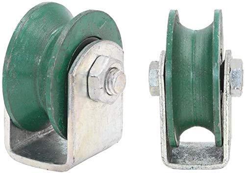 Rueda giratoria rígida de Acero con Ranura en U para máquinas industriales...