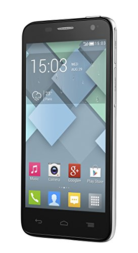 Alcatel Onetouch Idol mini (6012D) Smartphone, 10,9 cm (4,3 Zoll) Touchscreen, 5 Megapixel Kamera, 1,3GHz, Dual-Core Prozessor, Android 4.2, silber