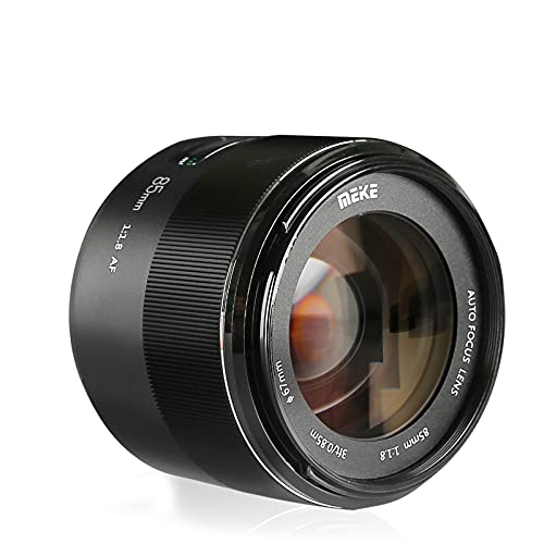 MEKE 85mm F1.8 Auto Focus Full Frame Large Aperture Lens Compatible with Nikon F Mount DSLR Cameras D850 D750 D780 D610 D3200 D3300 D3400 D3500 D5500 D5600 D5300 D5100 D7200 and Other F Mount Cameras