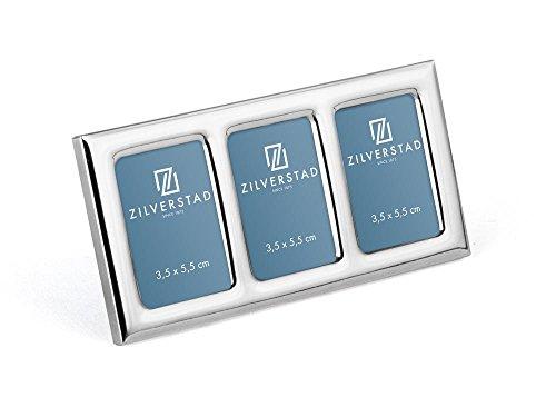 Zilverstad Fotolijst Maine 3,5x5,5cm 3-voudig, ijzer, zilverkleurig, 1,4 x 14,6 x 7,4 cm