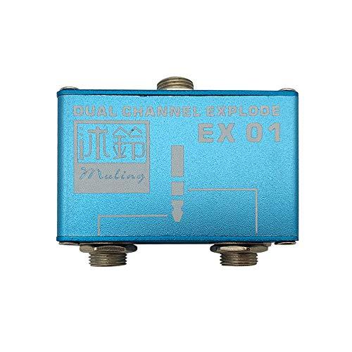 Audio Splitter Deconcentrator Konvertiert Dual Channel in 2 Mono Channels für Dual Pickup Dual Output