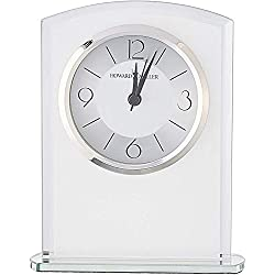 Howard Miller Glamour Table Clock 645-771 – Modern Glass with Quartz Alarm Movement