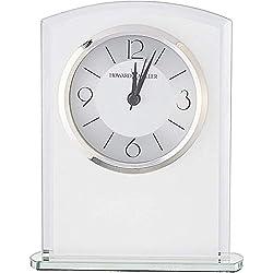 Howard Miller Glamour Table Clock 645-771 – Modern Glass with Quartz Alarm Movement
