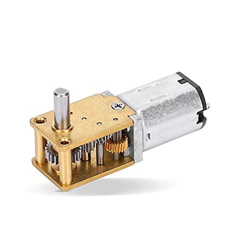 Micro motore di riduzione della velocità, N20 DC12V Motoriduttore a ruota dentata in metallo Mini motore elettrico CW/CCW(DC 12V 16RPM)