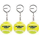 DUNLOP(ダンロップ) FORT(フォート) ミニチュアボール テニス キーホルダー 3個セット TAC-021-3SET