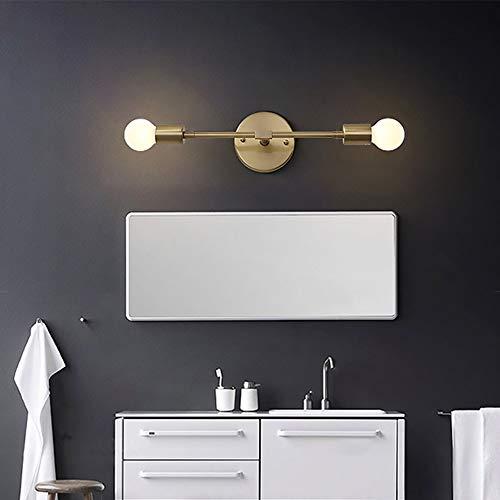 HO-TBO Spiegellamp, 2 lichtjes copper vanity verlichting badkamer lichten boven de spiegel voor make-up badkamer kaptafel studie stijlvolle en exquise eetlamp