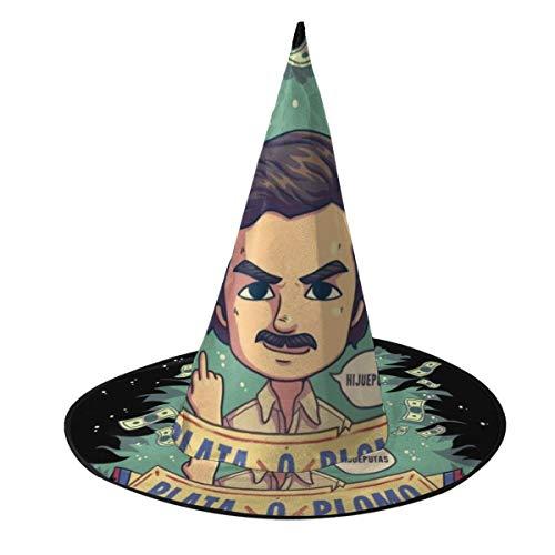 Plata O Plomo Pablo Escobar Narcos Hexenhut Halloween Unisex Kostüm für Urlaub Halloween Weihnachten Karneval Party