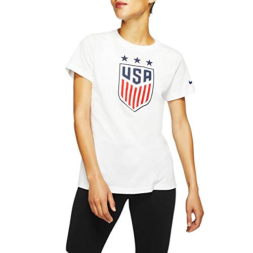 Nike Womens USA Soccer Crest Tee (X-Large, White)
