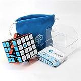 nacai Speed Cube, versión Mejorada Sin Adhesivos 4x4 Magic Cube, Smoothly Quickie Twist Adjustable, Puzzle Cube For Tournament Disponible,Negro