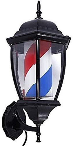 Barber Light Enseigne Lumineuse De Coiffeurs Barber Pole Salon LED Cheveux Salon de Coiffure Coiffure Signe Bleu Blanc Rouge Rotating Bandes étanches (Color : Red-58 * 30cm)