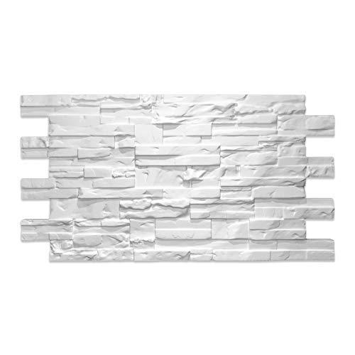 Pannello Finta Pietra Moderna Ricostruita in Polistirolo Non trattato Decorativo Termoisolante (Confezione 2,24 mq)