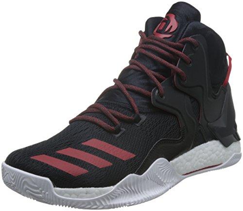 adidas Herren D Rose 7 Basketballschuhe, Black (Negbas/Scarlet/Negbas), 50 EU