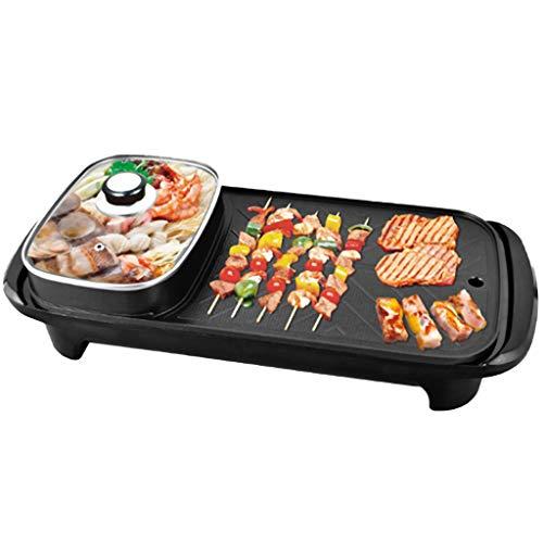 GXFCH SHOP Elektrischer Grill,220V 1300W Mehrere Funktionsoptionen,Mit Separater Temperatur-Steuerung, Um Köstliches Fleisch,Meeresfrüchte Zu Kochen