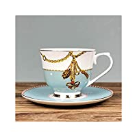MeidlyセラミックティーカップとソーサーSeter骨コーヒーカップ磁器紅茶カップセットCoffeewareセット、T