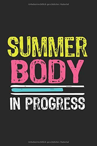 """Summer Body In Progress: 6""""x 9"""" Notizbuch Kariert 120 Seiten 🔥"""