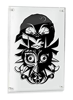 Legend of Zelda Majora's Mask - FRAMED hand cut paper art by