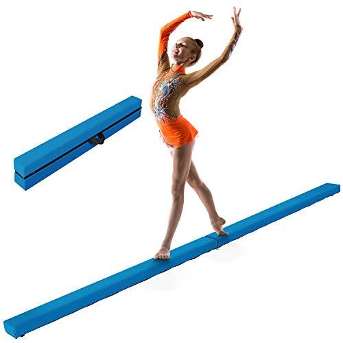 LUDOSPORT Schwebebalken, faltender Gymnastik Balance-Balken, Balance Beam Gymnastikbalken mit Griffen bis 100KG, Balken-Fitness-Training-Übung-Turnen für Kinder/Erwachsener Zuhause, 240 x 10 x 6,5 cm