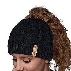 9c59c881794 (10) Women Hat Knit Skull Beanie Winter Outdoor Runner Messy Bun Ponytail  Cap