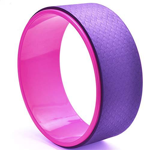 HEELPPO Aro Pilates Accesorios De Yoga Bloques Yoga Fitness Yoga Rueda De Apoyo Aumento De Flexibilidad Mejorar La Backbends Pink-Purple,-