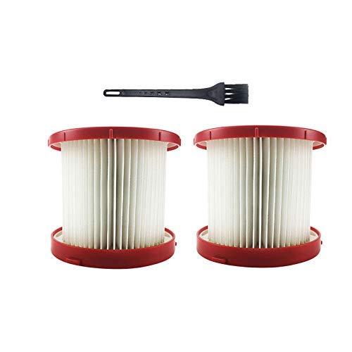 HYY-YY Filtre Hepa de rechange pour aspirateur Milwaukee 49-90-1900 Wet / Dry Vac 0780-20/0880-20 avec brosse de nettoyage