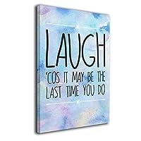 Skydoor J パネル ポスターフレーム Laugh Inspirational Quote インテリア アートフレーム 額 モダン 壁掛けポスタ アート 壁アート 壁掛け絵画 装飾画 かべ飾り 30×20