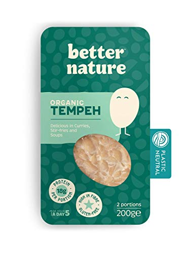 Better Nature - Organic Tempeh 200g (5 Pack) Vegan Friendly Meat...
