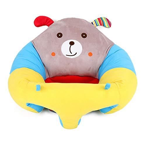 ZHUOHONG Silla de aprendizaje de bebé de peluche de juguete de dibujos animados sofá de bebé asiento de aprendizaje creativo regalo