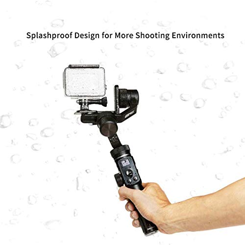 FeiyuTech G6 MAX 3-Axis Handheld Gimbal Stabilizer for Light Mirrorless Camera Like Sony a7,RX100 Series,Action Camera,Smart Phone iPhone 11 Pro MAX,1.2Kg Payload,Splash Proof