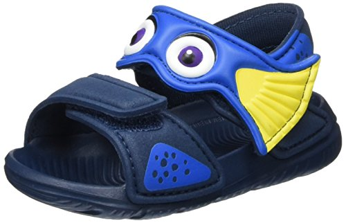 adidas Unisex Baby Disney Akwah 9 Badeschuhe, Mehrfarbig (Mineral Blue/Shock Blue/Bright Yellow), 21 EU