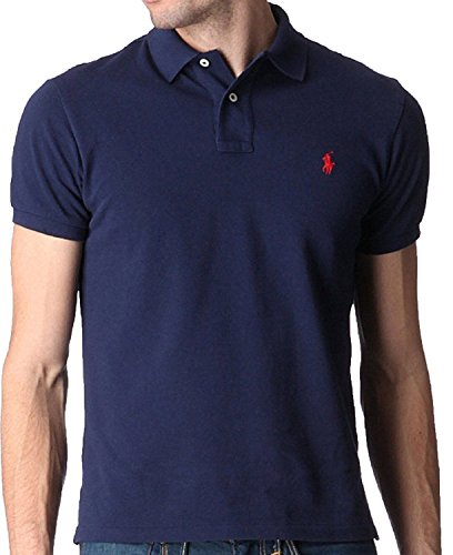 POLO RALPH LAUREN MARINE PONY ROUGE CUSTOM FIT TAILLE XL