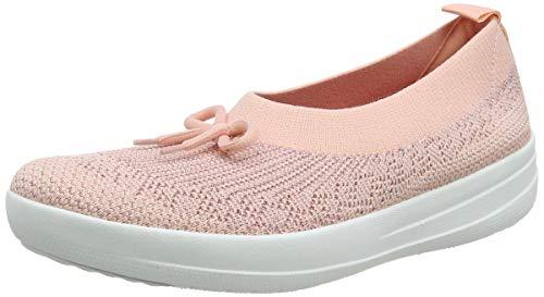 Fitflop Damen Uberknit Ballerina With Bow Geschlossene Ballerinas, Pink (Ss20 Coral Pink 807)), 39 EU