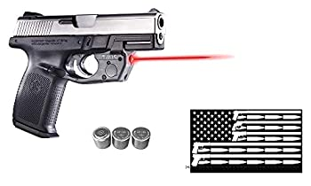 Laser Sight for S&W Sigma Series by Arma Laser - TR15 Touch-Reflix for SW9VE & SW40VE Smith & Wesson Pistols  Does NOT fit SD9VE or SD40VE  with 2 Extra Batteries and Guns & Ammo Flag Sticker
