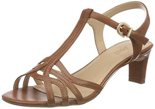 Esprit Damen 031EK1W335 Sandale, 235/CARAMEL, 39 EU