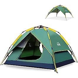 Hewolf Tente Automatique Pop Up Tentes de Camping 2-3 Personnes Tente Imperméable Hydraulique Tentes Familiale Double…