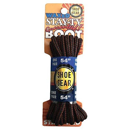 Stay-Ty Waxed Boot Lace, 54 Brown by RHODE ISLAND TEXTILE