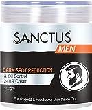 SANCTUS Mens Dark Spot Reduction Cream - Lighten Dark Spots, Fade Acne Scars and Brighten Skin Tone (100 gm)