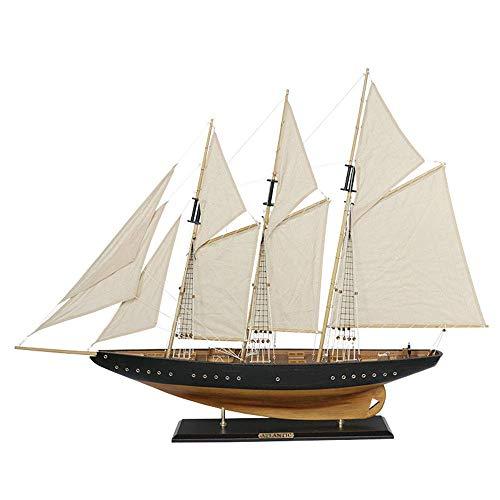 Alysays Inspirierendes militärisches Schlachtschiff-Modell, atlantisches Vintage-Segelschiff-Modell, Dekoration und Geschenke, 28.7 Zinch 22inch