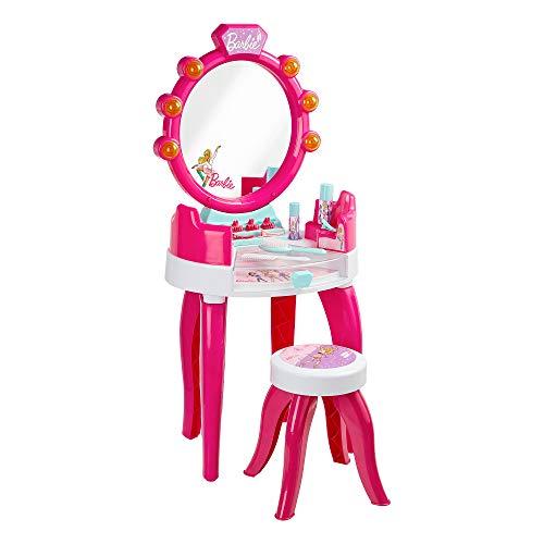 Theo Klein 5328 - Barbie Schminktisch für Kinder ab 3 Jahren, mit Hocker und Licht und Sound, multicolor