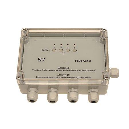 ELV FS20 AS4-2 4-Kanal-Funk-Aufputzschalter